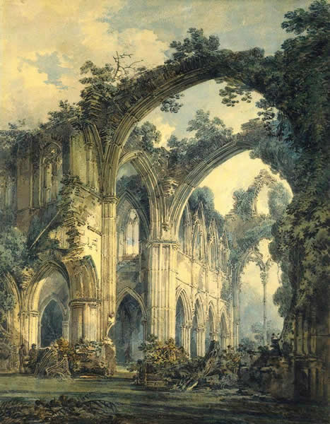 "William Turner ""L'abbaye Tintern"" 1820"