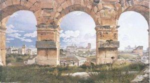 Christoffer Wilhelm Eckersberg (1783-1853), Vue des arcades du Colisée, 1815.